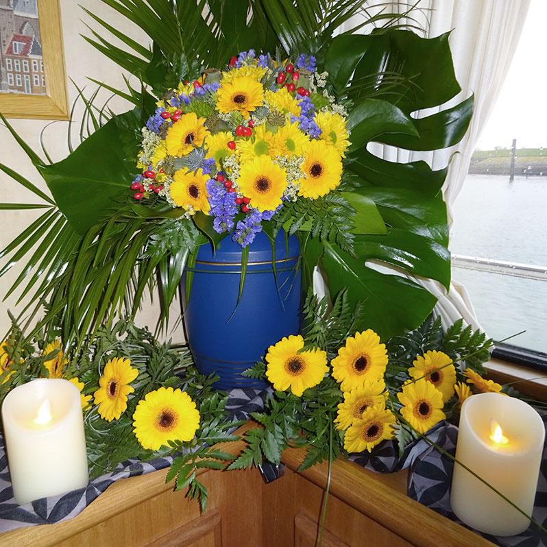 Bestattung Sonnenblumen