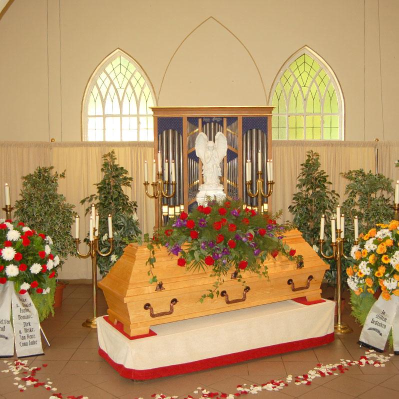 Trauerandacht einer Beerdigung